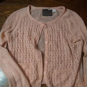 Anthropologie Guinevere peach dainty sweater